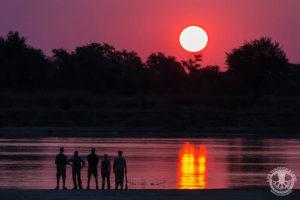 Remote Africa Zambia sunset
