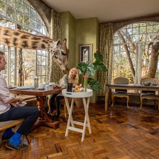 Breakfast at Giraffe Manor Kenya